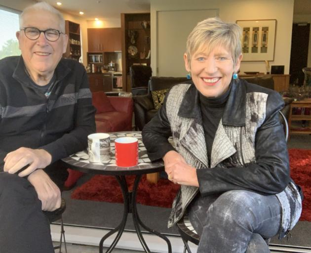 Mayor Lianne Dalziel and husband Rob Davidson have been using the lockdown as a chance to relax...