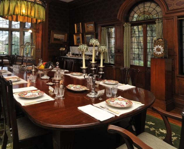 The dining room at Olveston.