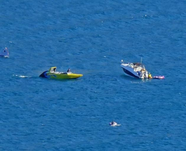 KJet and a private vessel were involved in the rescue of five people in January 2019. Photo: ODT...