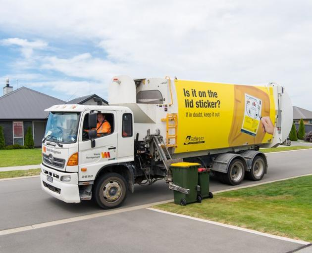 Recycling bins will be collected as normal in Selwyn but processed as general rubbish from Monday...