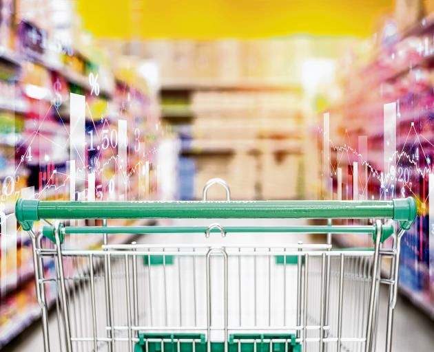 Walking the supermarket aisles can be an exercise in watching inflation at work. Photo: Getty...