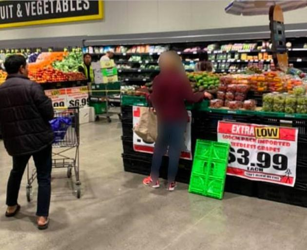 The woman reportedly yelled at one of the shoppers at one point, when he got too close. Phoot:...