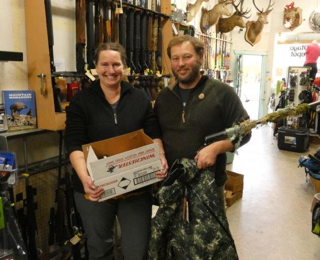 Owners of Central Otago Sports Depot in Alexandra, Ellen and Stu Middendorf, hold one of the few...