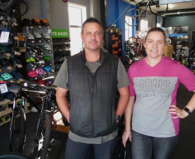Stoked Cycles owners Paul and Monique Brake. Photo: Ashburton Courier