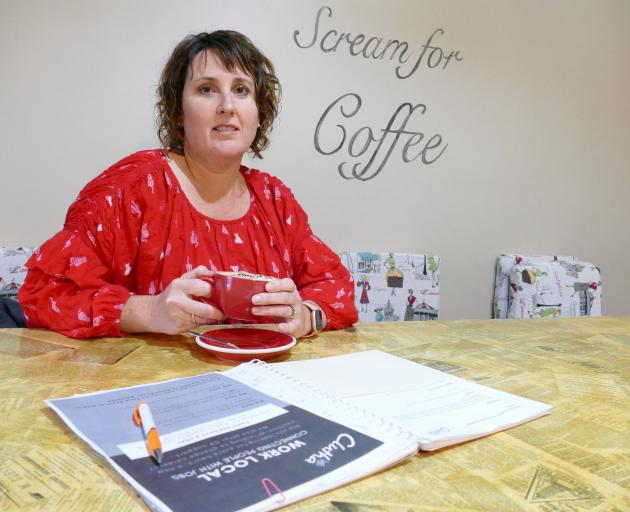 Crying out ... ''Work Local'' co-ordinator Sarah Homer visits Cafe 55, Balclutha, in preparation...