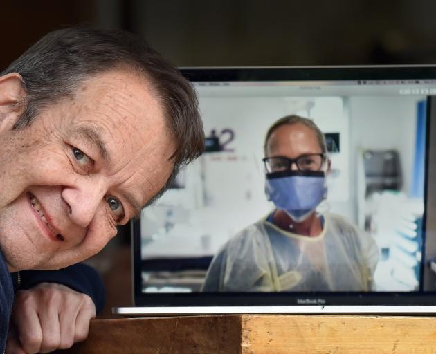 Dunedin film-maker Dr Paul Trotman, who is making a documentary on Covid-19. PHOTO: PETER MCINTOSH