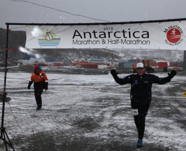 In 2018, a layered-up Jeremy Duggan completed the Antarctica Marathon on his way to trying to...