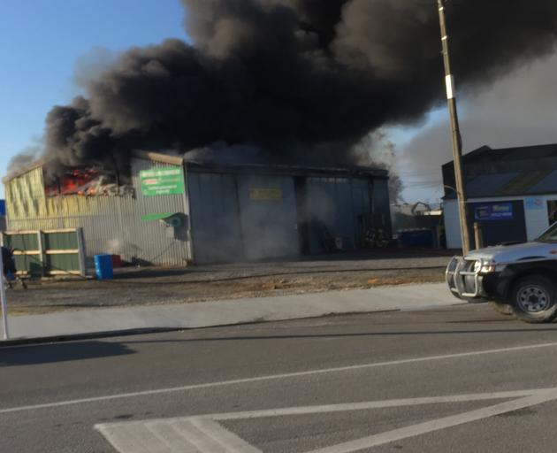 The large fire started before 10am. Photo: John Cosgrove