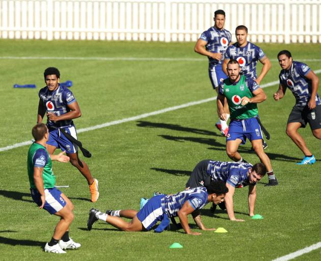 The Warriors train in Tamworth. Photo: Getty Images