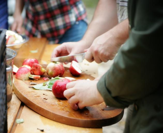 You don't need to peel or core the apples. Photo: Getty Images