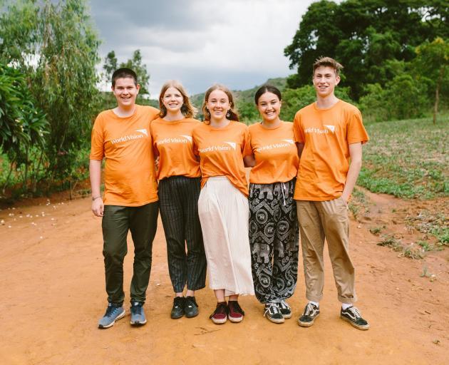World Vision youth ambassadors (left to right) Izaac Wilson, Hayley Gotlieb, Jess McLennan,...