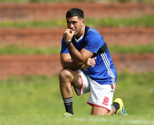 Nehe Milner-Skudder looks on during the Hurricanes training session at Rugby League Park in...