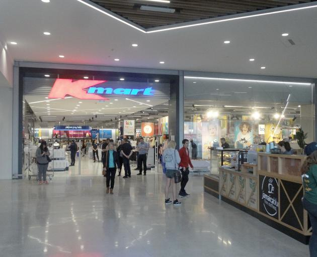Customers pile into Queenstown's new Kmart store as it opened its doors for the first time this...