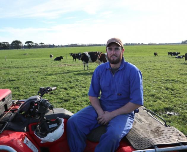 Keen dairy farmer ... Josh Cochrane, of Ryal Bush, is enthusiastic about dairying, cows and being...