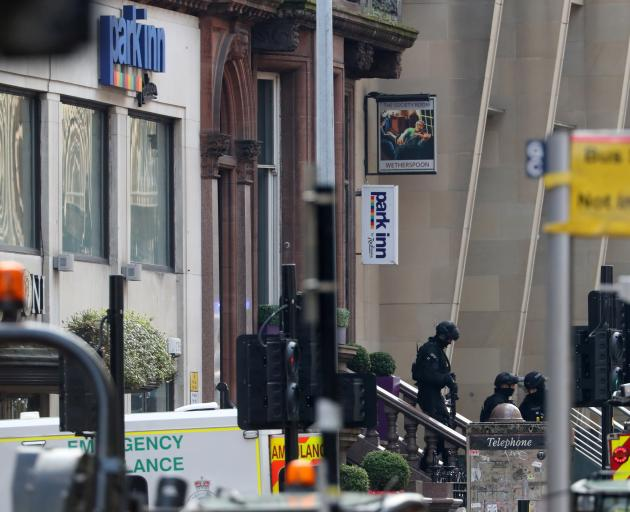 The attack took place at a hotel in West George St in central Glasgow. Photo: Reuters