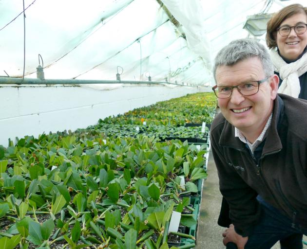 New growth ... Blue Mountain Nurseries directors Chris and Rebecca Hughes are offering two new...
