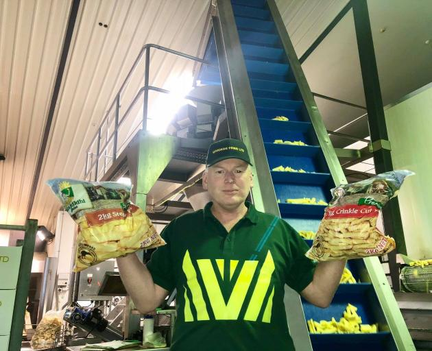Makikihi Fries manager Stewart Hydes says European product shipped to New Zealand would be...