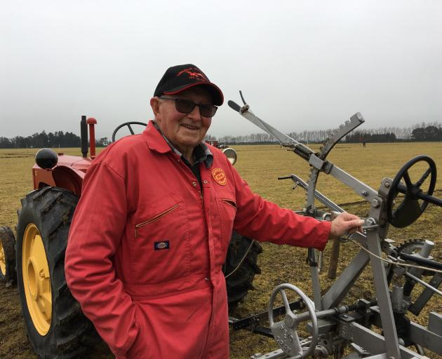 Ploughing stalwart John Stalker won the vintage open at the Mid Canterbury Vintage Machinery Club...