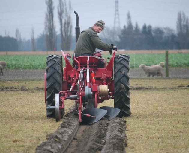 Robert Weavers perfects his cut during the vintage qualifying ploughing match.