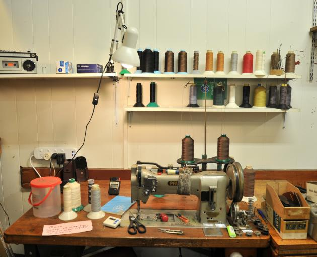 A sewing station.