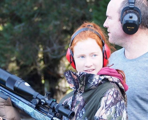 Central Southland College Year 13 pupil Jamie Hudson (17) and her father Greg during a long range...