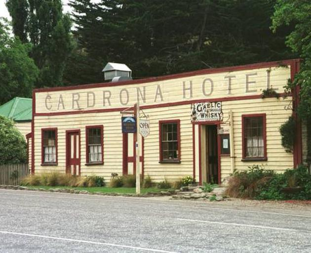 The historic Cardrona Hotel is the place to swap stories after a day on the slopes. Photo: Supplied