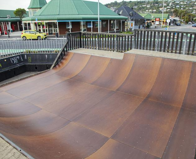 Sumner skateboarders will continue to use a temporary wooden skate ramp until their new permanent...