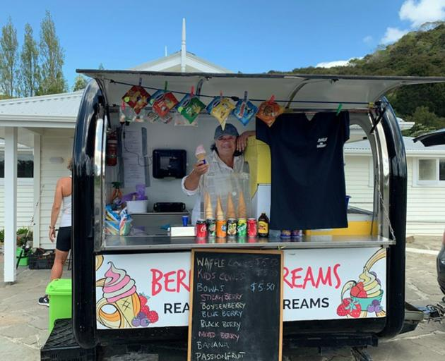 Fresh berry ice-cream in Horeke - the perfect finish to the cycle trail.