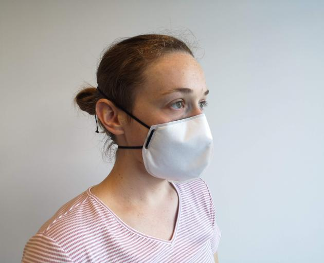 A Lanaco face mask made with New Zealand wool. PHOTO: SUPPLIED