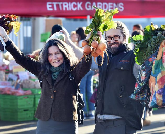 Henry Hatherly and his mum, Susie Hatherly, of Dunedin, enjoy being able to shop locally for...