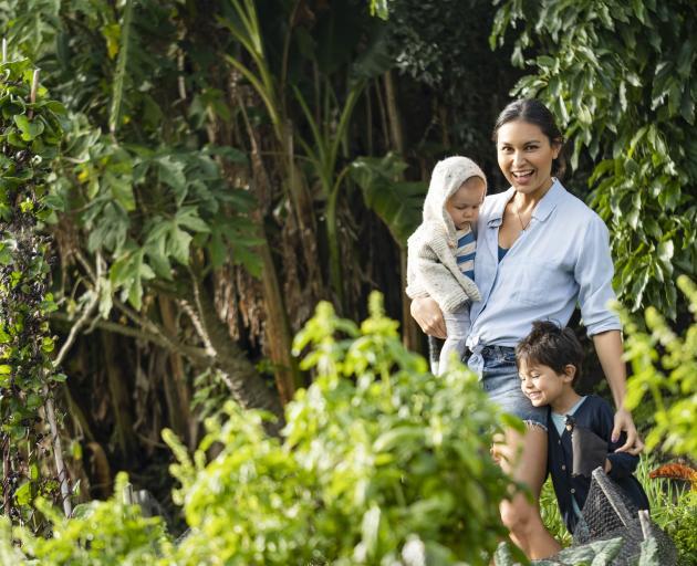 Nadia Lim in her garden. Photo: supplied