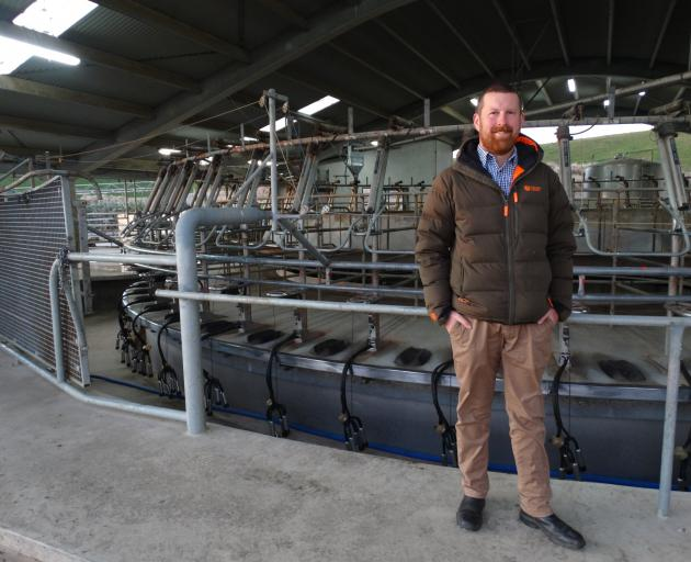 Avon Glen farm manager Sven Thelning outside the Enfield dairy farm's milking shed. PHOTO: DANIEL BIRCHFIELD