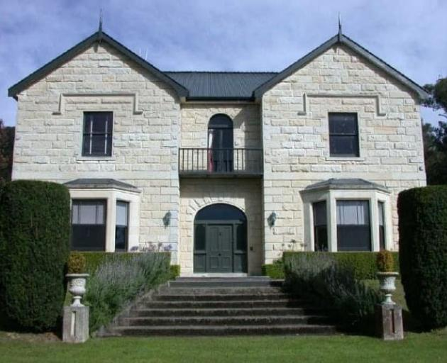 The Oamaru stone facade of Casa Nova House will be restored in September, once scaffolding has been erected. PHOTO: SUPPLIED