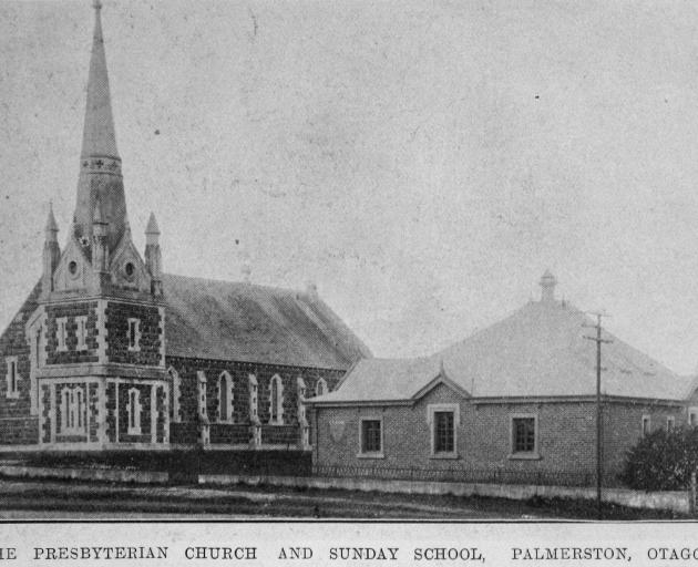 The Presbyterian church and Sunday school, Palmerston. — Otago Witness, ...