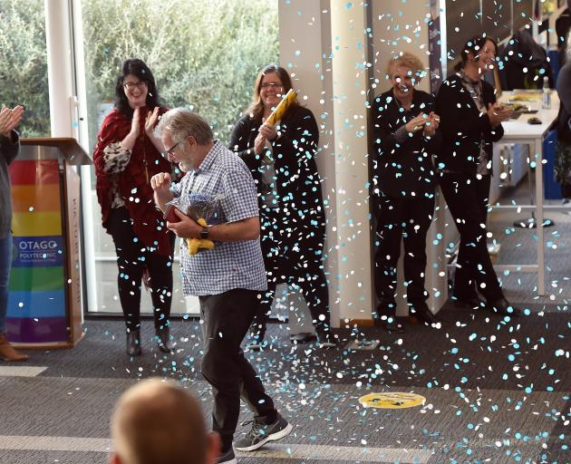 Otago Polytechnic staff stage a surprise farewell last week for departing chief executive Phil...