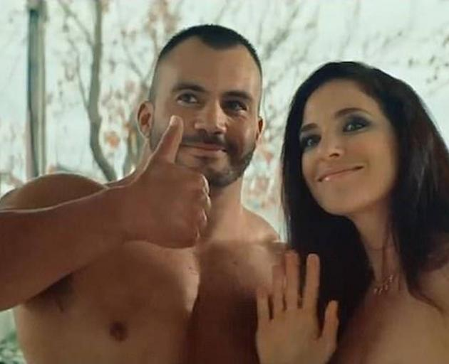 The New Zealand advertisement begins with two naked porn stars, named Sue and Derek, arriving at...