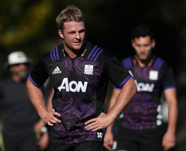 Sam Cane at a Chiefs training session. Photo: Getty Images