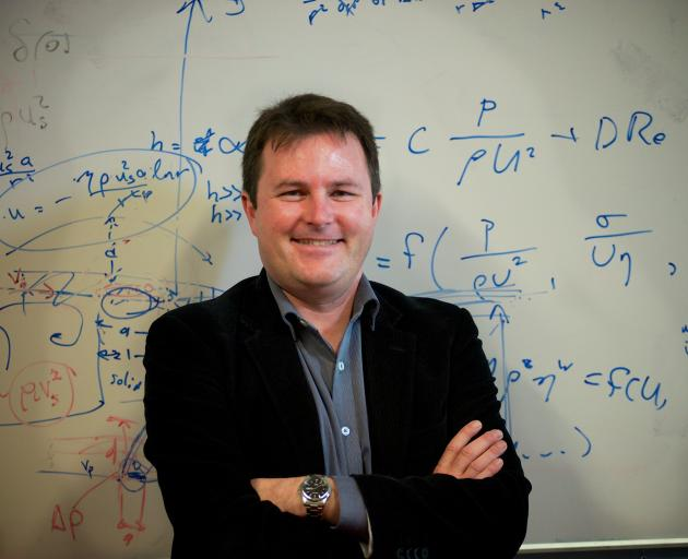 Prof Shaun Hendy is working on his flying footprint. Photo: Supplied