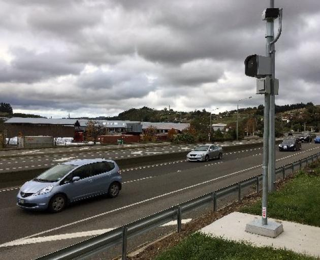 The fixed speed camera on Dunedin's Southern Motorway ticketed nearly 10,000 motorists in the first 10 months. PHOTO: SHAWN MCAVINUE