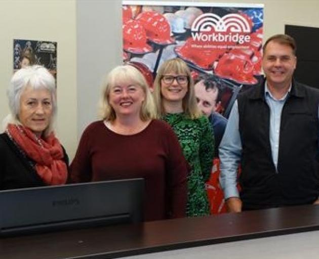 The Dunedin-based Workbridge team, (from left) team leader Mandy Johnstone and employment...