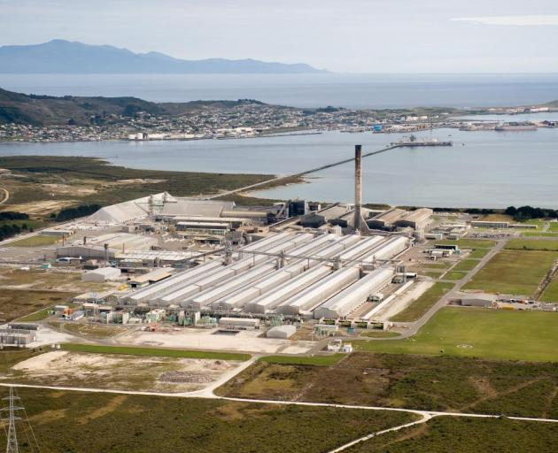 The smelter at Tiwai Point in Bluff is the country's biggest electricity consumer. Photo: supplied