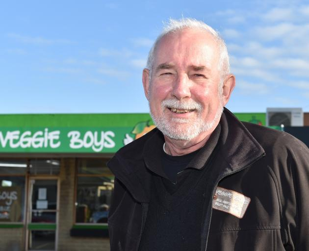Marty Hay outside his new Veggie Boys shop in Prince Albert Rd that opens next week. PHOTO:...