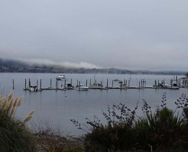 Fog and low cloud over Lake Wanaka this morning. Photo: Kerre Waterworth