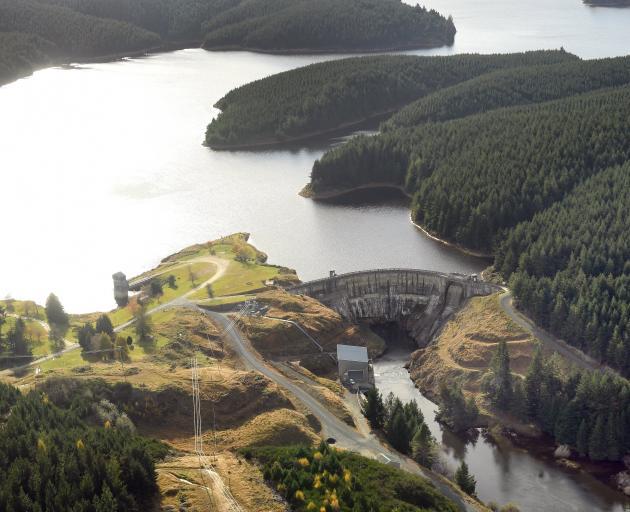 Waipori Dam, Otago, one of Trustpower's 44 hydro-electric facilities. Trustpower recently lowered...