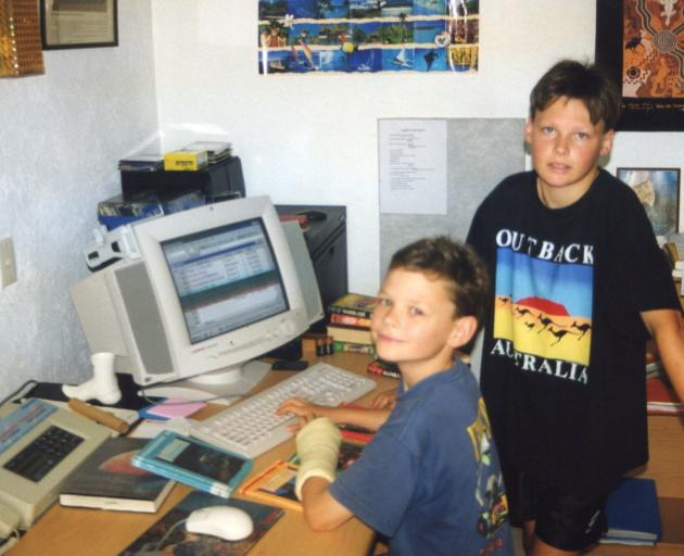 Shane Smith (right), aged about 10, and Craig Smith loved playing computer games. PHOTO: SUPPLIED