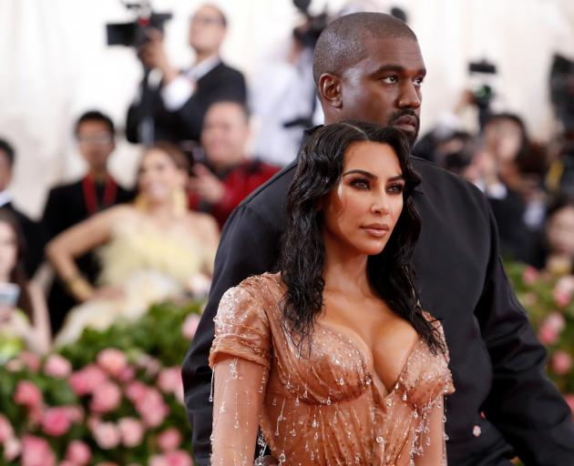 Kim Kardashian and Kanye West 's accounts were both affected. Photo: Reuters