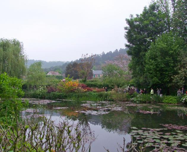 Lily pads float on the lake at Giverny, painter Claude Monet's home. PHOTOS: GILLIAN VINE