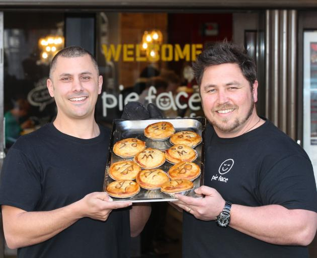 Former franchisees Jared Palmer (left) and Julian Field had plans for dozens of Pie Face stories...