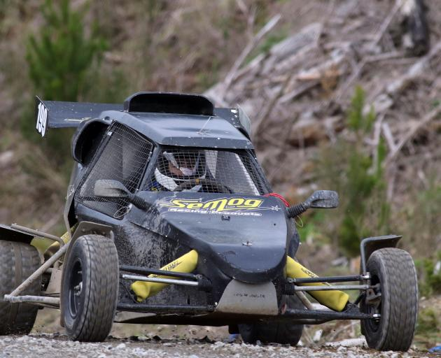 Showing the power of the new purpose-built Cross Car driver Jack Winter (Dunedin) put in a great...