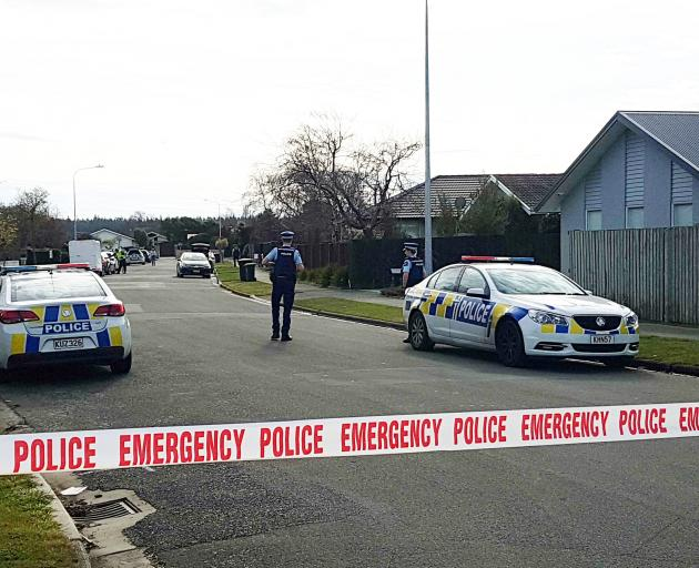 Police were called to Four Elms Pl in Parklands this morning. Photo: Geoff Sloan/Star News